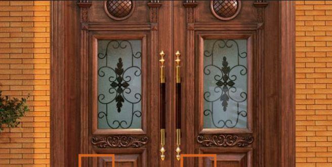 Khóa cửa gỗ cổ điển cho dự án biệt thự gỗ